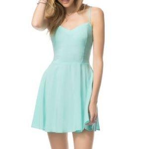 Aeropostale Mint Green Blue Mini Strap Dress Small